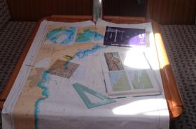 Curso Patrón Embarcaciones de recreo PER foto de ejercicios de carta de la Escuela Navegación Costa Verde Asturias